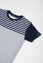 Superbalist - Kids boys stripe print tee - navy & white