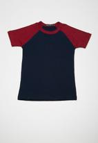 Superbalist - Kids boys 2 pack raglan tee - grey and navy