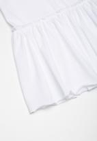 Superbalist - Kids girls peplum tee - white