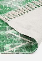 Sixth Floor - Atzi woven runner - green