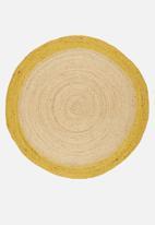 Sixth Floor - Sole jute round rug - yellow