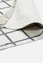 Sixth Floor - Piastrelle printed rug - cream & black