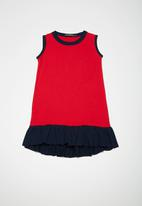 Superbalist - Kids girls dropped waist dress - red & navy