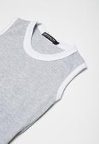 Superbalist - Kids girls dropped waist dress - grey & white