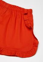 Superbalist - Frill detail shorts - red