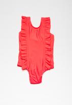 MINOTI - Kids frilled swimsuit - pink
