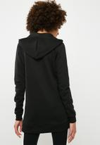 dailyfriday - Long length zip through hoodie - black