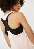 dailyfriday - Y- back contrast vest - pink & black