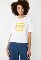 Superbalist - Drop shoulder slogan tee - white