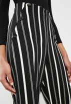 Superbalist - Knit sailor front culotte - black & white