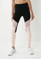 dailyfriday - Colour blocked 7/8 leggings - black & pink