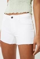 Jacqueline de Yong - Harmony denim shorts - white