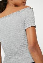 Jacqueline de Yong - Cissel smock top - grey