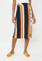 Superbalist - Button up pencil skirt - multi