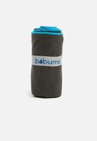 Bobums - Yoga towel - gun metal and blue