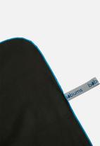 Bobums - Yoga and gym towel set - gun metal & blue