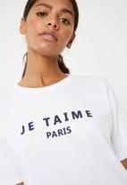 Superbalist - Je taime Paris graphic tee - white