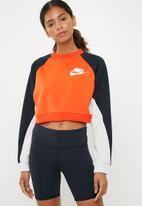 Nike - Mesh crew sweat - rush orange