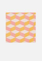 Meri Meri - Blush cubic napkins - orange & pink