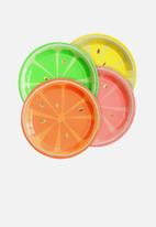 Meri Meri - Neon citrus plates - multi