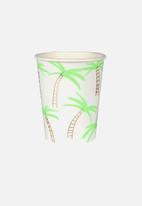 Meri Meri - Palm tree cups - green