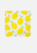 Meri Meri - Lemon napkins - yellow
