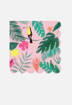 Meri Meri - Pink tropical napkins