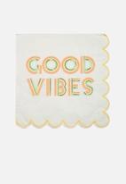 Meri Meri - Good vibes napkins - multi