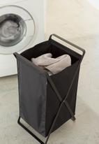 Yamazaki - Tower laundry basket - black