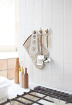 Yamazaki - Tosca magnetic kitchen tool hook - white