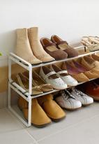 Yamazaki - Frame extendable shoe rack 3 tier - white