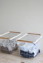 Yamazaki - Tosca laundry basket medium - white