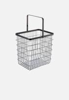 Yamazaki - Tower laundry wire basket large - black