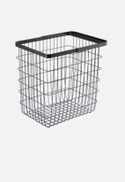 Yamazaki - Tower laundry wire basket large - black