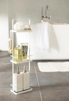 Yamazaki - Tower bath rack 3 shelf slim - white