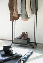 Yamazaki - Tower coat rack with caster - black