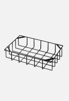 Yamazaki - Tower stackable basket small - black