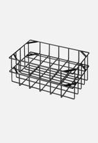 Yamazaki - Tower stackable basket small - black