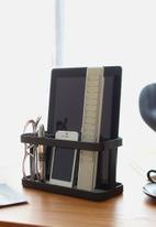 Yamazaki - Tower tablet & remote control rack - black
