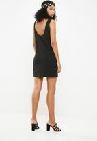 Jacqueline de Yong - Saint short sleeve dress - black