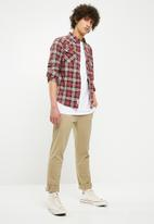 Bellfield - Curved collar pocket shirt - multi