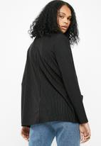 Noisy May - Power pinstripe blazer - black