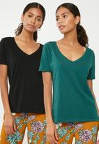 Superbalist - Boyfriend tee 2 pack - black & green