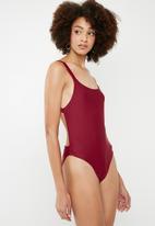 Superbalist - Bikini back one piece - burgundy