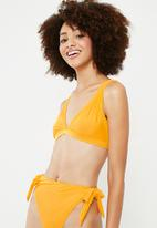 Superbalist - Plunge bikini top - yellow