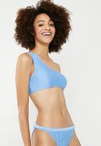 Superbalist - One shoulder bikini top - blue