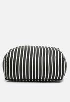 Sixth Floor - Outdoor floor cushion - b&w stripe