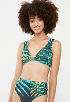 Superbalist - Plunge bikini top - multi