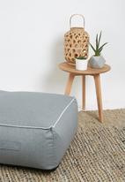 Sixth Floor - Outdoor floor cushion - charcoal blanket stitch