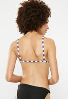 Superbalist - Josie triangle top - navy & white